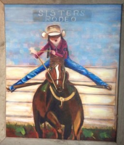 Cowgirl Up Painting