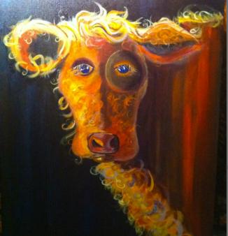 Moo La La Painting