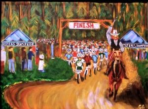 Sisters Stampede painting