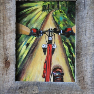 Mountain Bike Painting